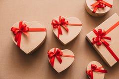 Gift boxes handmade holiday. Stock Photos