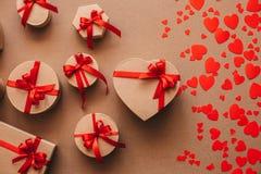 Gift boxes handmade holiday. Royalty Free Stock Photo
