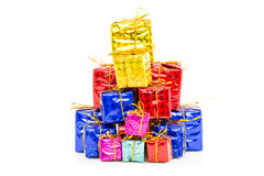 Gift boxes Happy Day. Decor and Christmas Royalty Free Stock Images