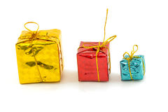 Gift boxes Happy Day. Decor and Christmas Stock Photos