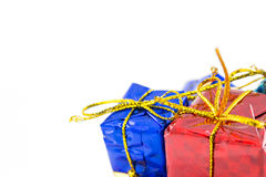 Gift boxes Happy Day. Decor and Christmas Royalty Free Stock Photos