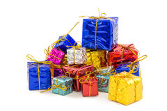 Gift boxes Happy Day. Decor and Christmas Stock Photo