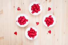 Gift boxes and hearts Royalty Free Stock Photos