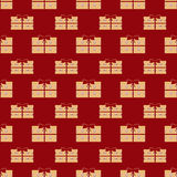Gift boxes holiday seamless pattern Royalty Free Stock Photos