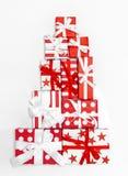 Gift boxes Holidays background Christmas Birthday gifts. Gift boxes on white. Holidays background. Christmas Birthday gifts stock photos