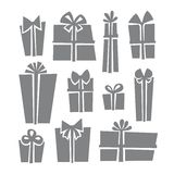 Gift boxes icon set. In Stock Image