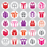 Gift boxes icons vector set, surprise simplistic symbols vector Stock Photography