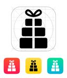 Gift boxes icons on white background. Vector illustration Royalty Free Stock Photos