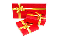 Gift boxes isolated Stock Images