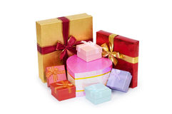 Gift boxes isolated Stock Photo