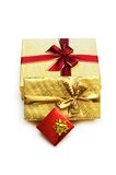 Gift boxes isolated. On the white background Royalty Free Stock Photos
