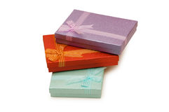 Gift boxes isolated Royalty Free Stock Photo