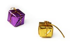 Gift boxes isolated. Two colors Royalty Free Stock Image