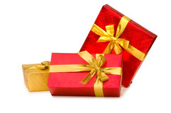 Gift boxes isolated Stock Photos