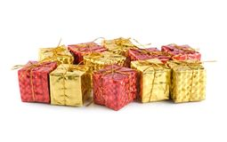 Gift Boxes isolated(9).jpg Royalty Free Stock Photo