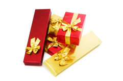 Gift boxes isolated Stock Photography