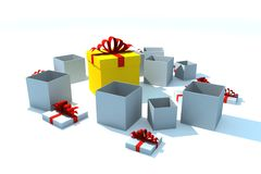 Gift boxes - isolated illustration Royalty Free Stock Image