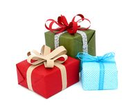 Gift boxes isolated Royalty Free Stock Photography