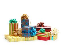 Gift boxes isolated Royalty Free Stock Image
