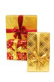 Gift boxes isolated on  the white background Stock Images