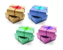 Gift Boxes with Love Heart Stock Images