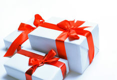 Free Gift Boxes Over White Stock Photography - 17470802