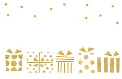 Gift boxes paper cut on white background. Isolated vector illustration