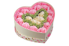 Gift boxes of paper flowers Royalty Free Stock Photos
