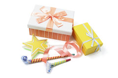 Gift Boxes and Party Favors Royalty Free Stock Photos