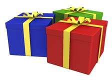 Gift Boxes - path included Royalty Free Stock Image
