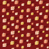 Gift boxes pattern Stock Photography