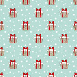 Gift boxes pattern Royalty Free Stock Photos