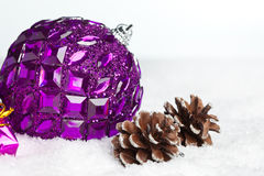 Gift boxes with pinecone Stock Image
