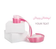 Gift boxes with pink ribbons Stock Photography