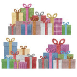 Gift boxes  recycled papercraft . Royalty Free Stock Photo