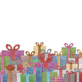 Gift boxes  recycled papercraft . Royalty Free Stock Images