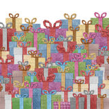 Gift boxes  recycled papercraft . Stock Image