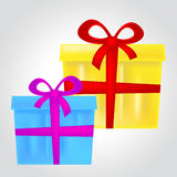 Gift Boxes Represents Christmas Present And Celebrate Royalty Free Stock Images