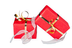 Gift Boxes with Ribbon Stock Images