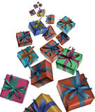 Gift boxes. With ribbon on white background Stock Image