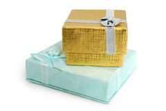 Gift boxes with ribbon Stock Photo