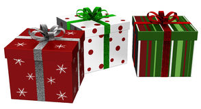 Gift boxes with ribbons Royalty Free Stock Image