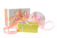 Gift Boxes with Ribbons Stock Image