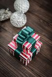 Gift boxes with ribbons Stock Photo
