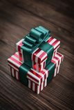 Gift boxes with ribbons Stock Images