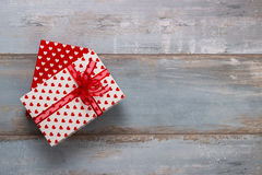 Gift boxes with ribbons and Stock Photography