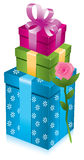 Gift boxes with rose Royalty Free Stock Photo