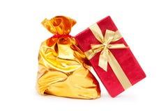 Gift boxes and  sacks Royalty Free Stock Image