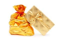 Gift boxes and  sacks Stock Image