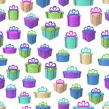 Gift Boxes, Seamless Background Royalty Free Stock Image